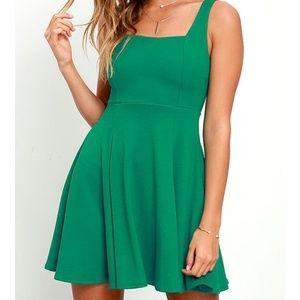 LuLu's Green Skater Dress Size L
